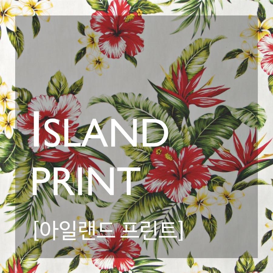 ISLAND PRINT—充滿海島風情的花紋!特別是充滿南洋風格的一些花花草草的紋路!