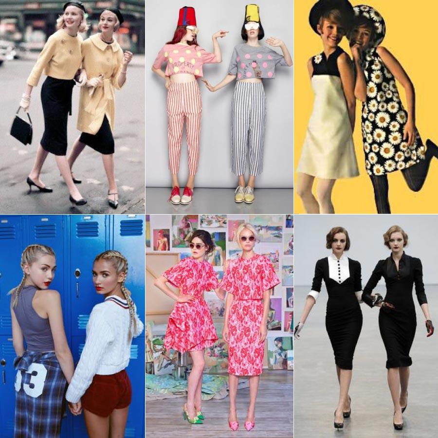 以相近的穿衣風格,但又帶點不同的感覺,是最近在海外街頭流行的一種趨勢唷!