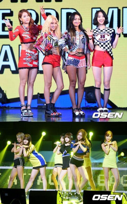 韓國頂級女團之戰~上周從Sistar開始吹起開戰之哨! 對決新生代女團AOA的結果~目前音源榜以Sistar占上風~ 但音樂節目冠軍得主,要從這周才見分曉!