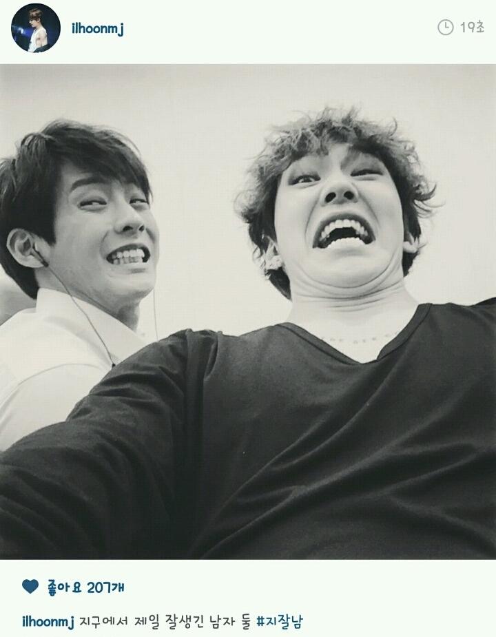 不只如此,BTOB的成員們好像沒有一個正常的!XD (左:李旼赫 /右:鄭鎰勳 )