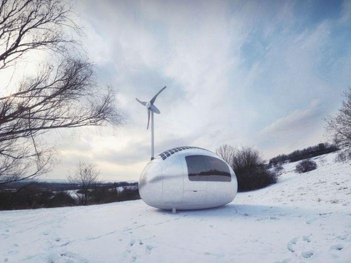 其實這個房子有個正式的名稱~「Ecocapsule」,最快預計會在明年中會正式啟用!