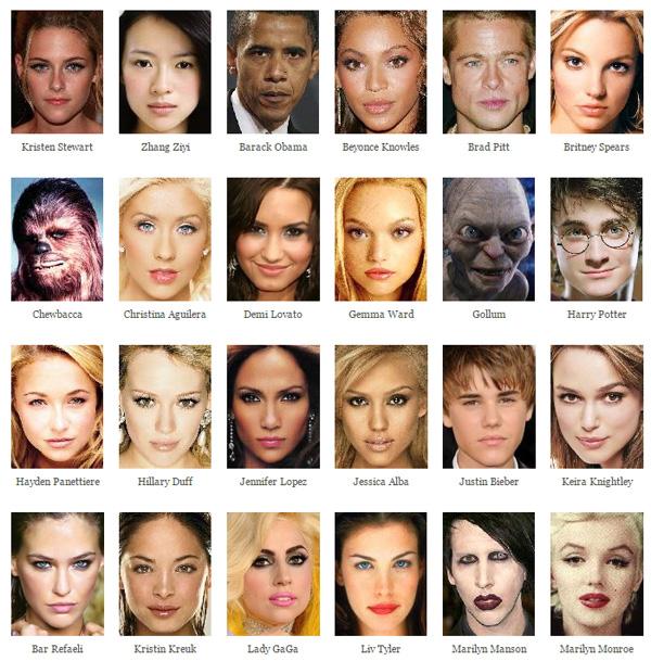 在這個網站上,已經有許多明星們的照片供大家合成。不過大部分都是歐美的藝人就是了~