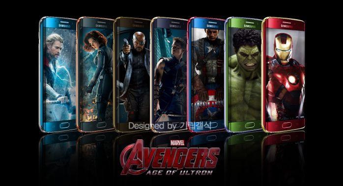 由Seeko的기립갤식先生所設計的「復仇者聯盟《GALAXY S6系列》」,把所有英雄都設計在手機上面~