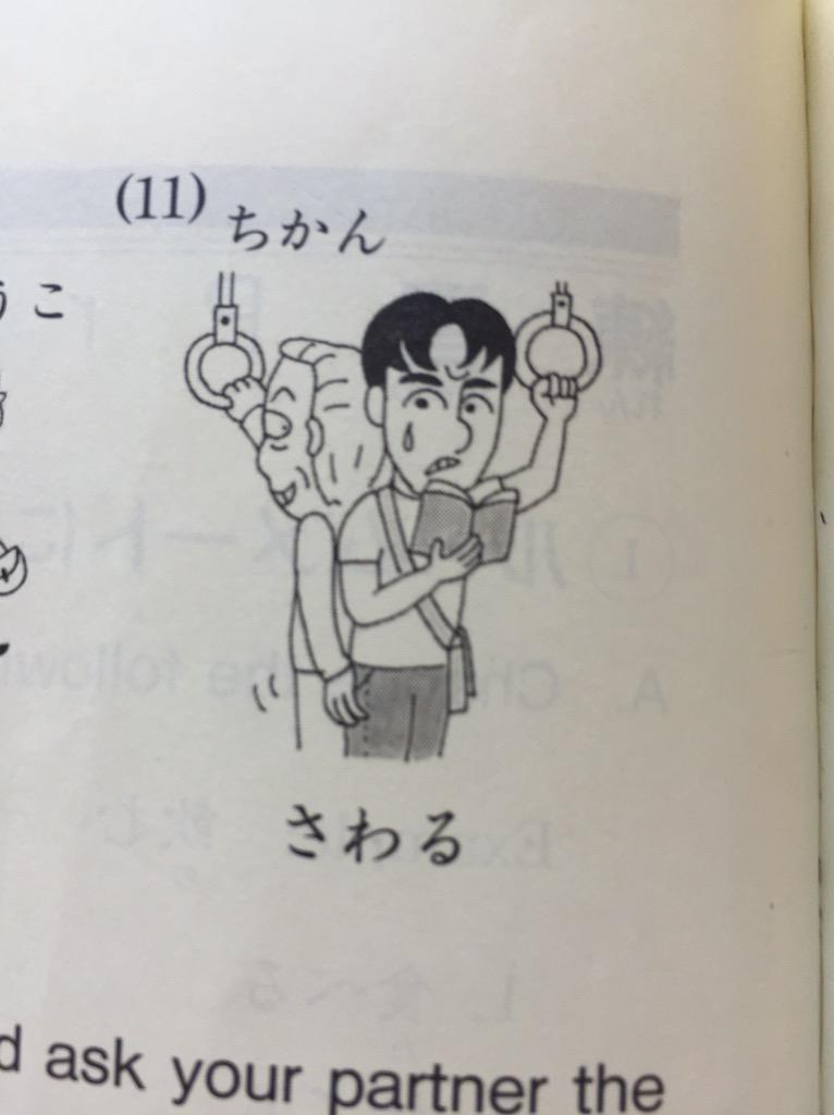 為什麼針對「觸摸」的解釋居然會放怪叔叔摸少年郎的插畫啦XD