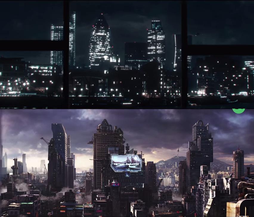 首先她們都是走一個未來世界的末世概念~ 所以都有一種高科技感~但顯得城市很冰冷~