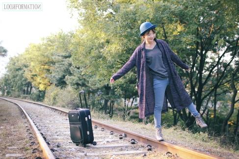 如果想要拍攝一些走出城市、帶點自由氣息的照片的話,位於首爾富開洞的鐵道~是個好選擇