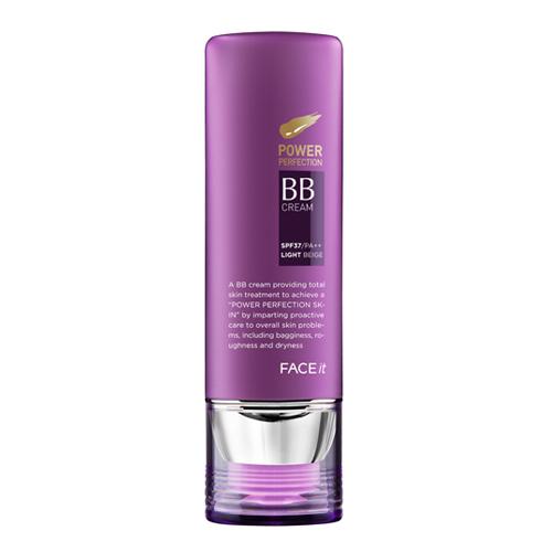 FACE it Power perfaction BB霜 / 40g / 售價約台幣655元    綽號「紫色BB」,跟其他很貴品牌或美妝小舖的BB產品相比,這款真的實惠又好用!輕透感十足的同時,遮瑕力也夠用,而且含保濕抗老化成份,使用起來一點負擔也沒有,讓人很喜翻~
