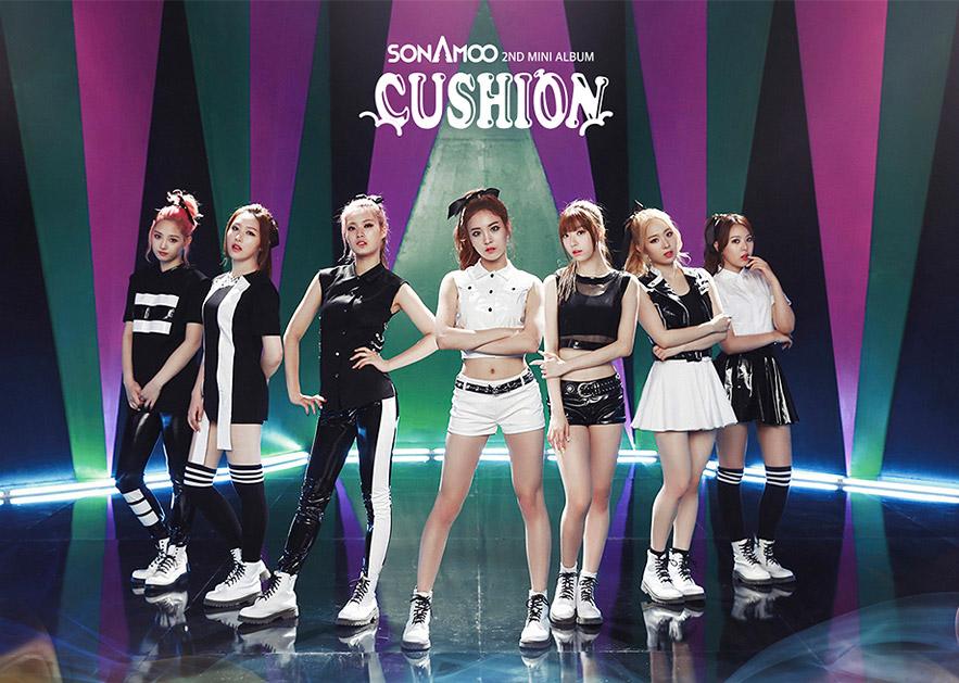 從左邊開始是成員New Sun、宜珍、D.ana、娜賢、受玟、旼宰、High.D等七人,成員們的年紀介於1994~1997年生,是20歲的青春活力女孩~