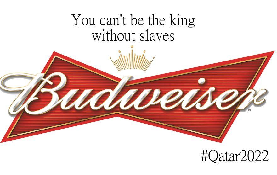 #百威啤酒LOGO 反諷法~『沒有奴役你也成為不了王!』