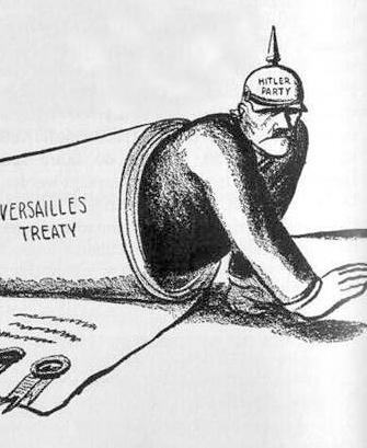 因為累積了過大的賠償金,需要賠給協力國家的關係。因為這個合約,導致德國幾乎可說是無法恢復國際社會地位,甚至給了他們非常大的恥辱感,是非常痛苦的時期!