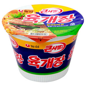 第八名:農心 辣牛肉湯麵<大碗裝> 銷售額:150億韓元