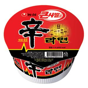 第三名:農心 辛拉麵<大碗裝> 銷售額:400億韓元