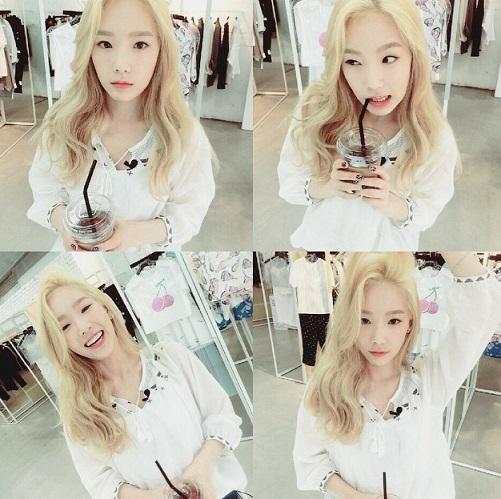 還是亮色髮的泰妍呢?