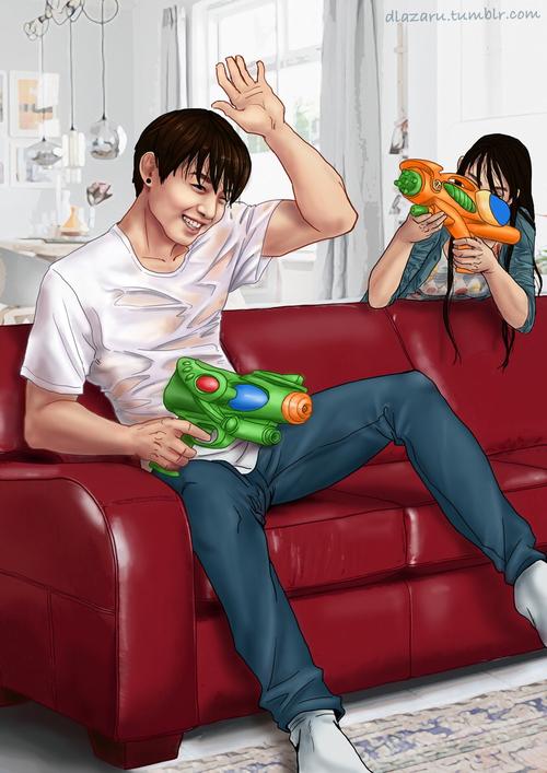 拿水槍互相攻擊玩耍也很棒!!!