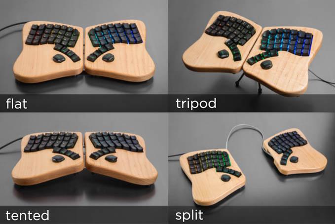 鍵盤甚至可以左右分離,按照使用者的喜好使用
