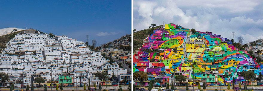 一個塗鴉企劃就減少了青少年犯罪,以及讓居民們創造了就業機會,而且讓整個村莊再次活起來,成為一個這麼漂亮豔麗的村莊,實在是可喜可賀