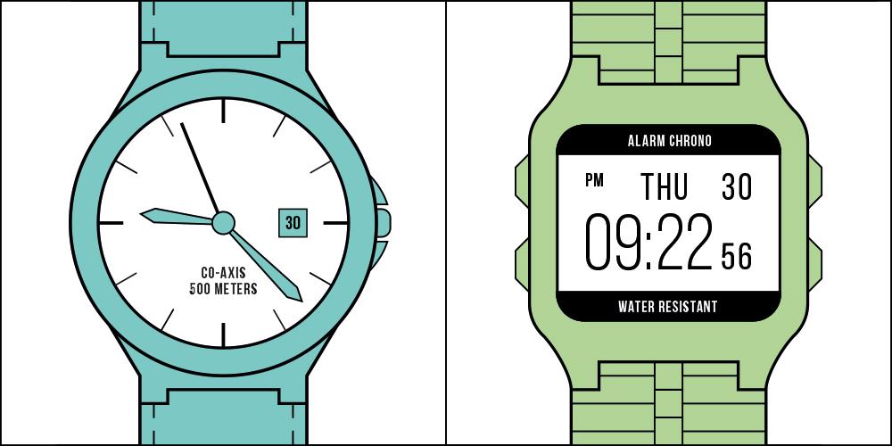 喜歡使用一般分秒針手錶 OR 喜歡使用電子錶