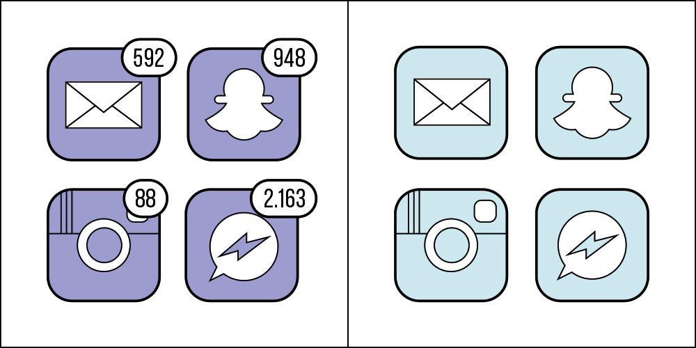 當手機上的紅色訊息通知顯示時,有強迫症想想消除 OR 一點都不在意