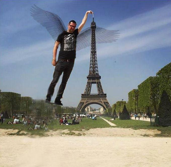 上帝心情好的話,或許就會送你一雙翅膀,直接飛上天觸摸鐵打頂端~