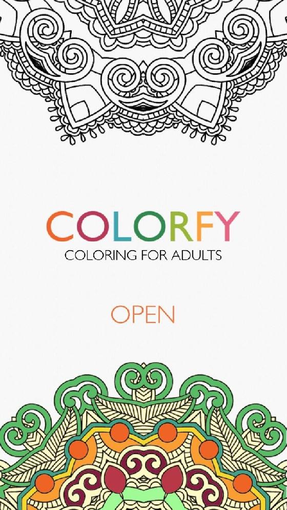 《Colorfy》的介面就很療癒呢〜