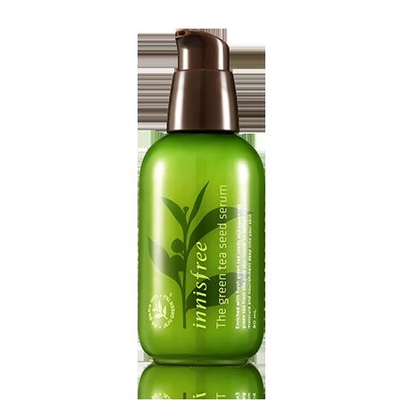 The Green Tea Seed精華 / 80ml / 22,000韓圜 (台幣約630元)  推薦的小編說:基礎保養產品中,我最喜歡這款精華了!放在浴室裡,洗完臉後,馬上塗抹於臉上超舒服的!有的時候偷懶,只擦了這個就去睡覺,就算這樣隔天早上起來臉部一樣很水潤。如果能夠販售更大容量版本的話,就太好了~80ml太少拉!