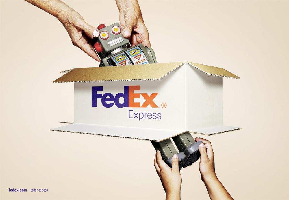 這個箭頭代表了FedEx的快速抵達的承諾,以及對於未來展望的表現。