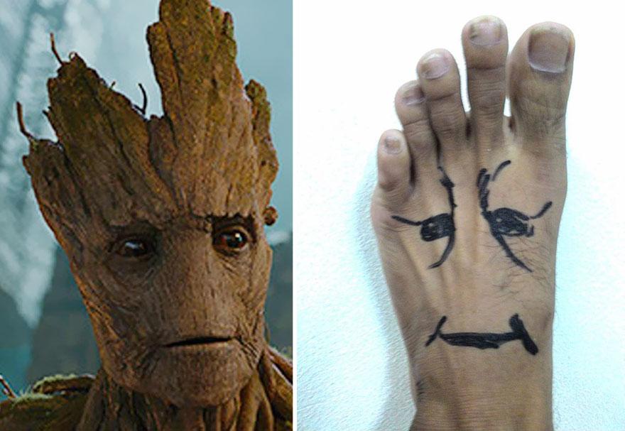 # 樹精 扮演樹精最簡單,借一下你的一隻腳,然後一支奇異筆,就搞定拉