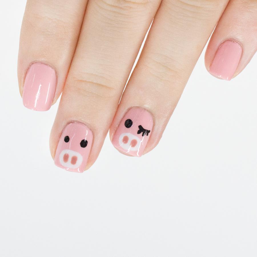 到這裡可愛的粉紅小豬完成了!!!