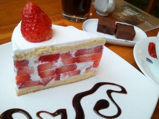 飽小編曾經在今年初介紹過這個超誘人的草莓磚牆蛋糕~大家看過了嗎?