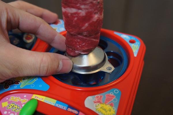 取而代之把我們的烤肉串放在旋轉盤裡