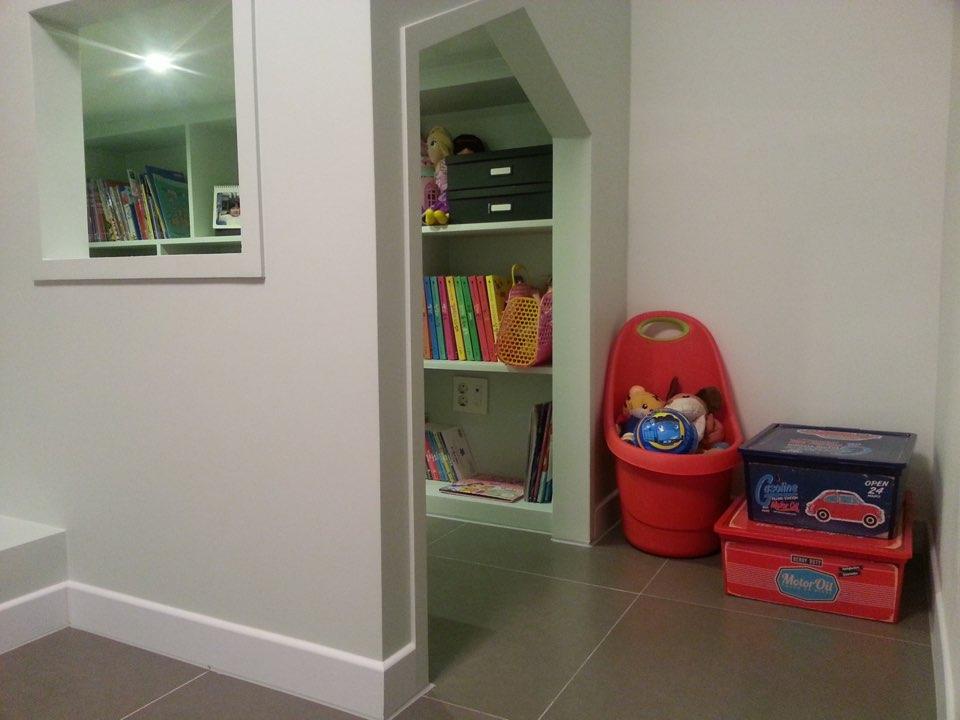 小小書房的感覺,讓孩子有自己的秘密基地:)