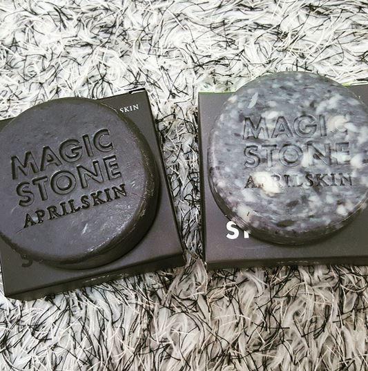這款有「魔法石」( Magic Stone)之稱的潔面皂,有各自的使用時間,黑色的是早上使用,大理石色則是夜晚使用。