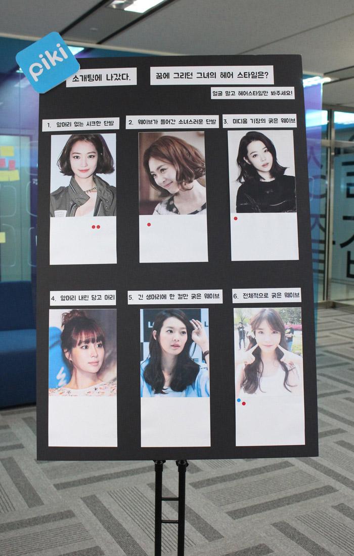 完成六種充滿不同風格的女性髮型調查板!
