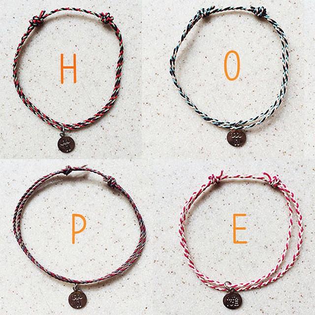 接下來這款則是夏天版的限定「HOPE手環」~售價也是同上一樣的!