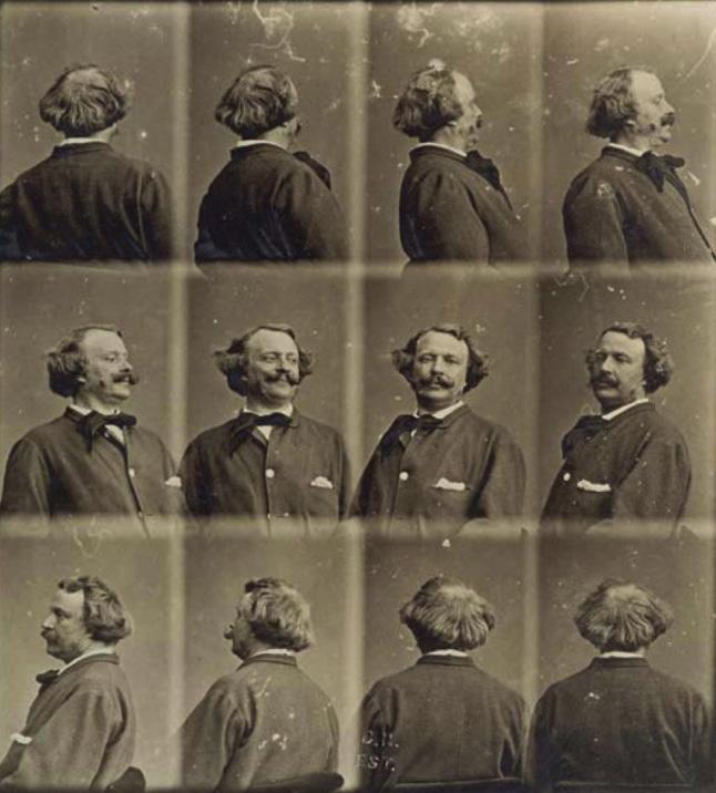 回顧1860年代時,法國的攝影師Felix Nadar也嘗試過360度旋轉自拍。自己的前後左右樣貌都可以以自拍的方式留下紀念,這正是因為人類的慾望而發展而成的技術呀~