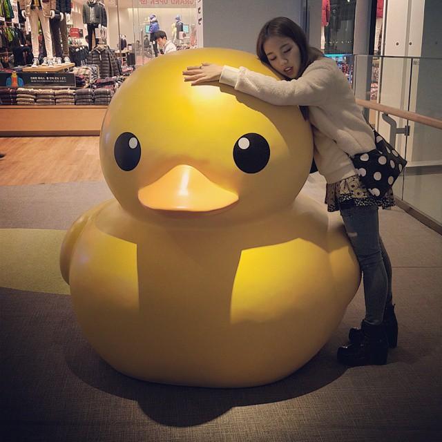 #「我妹妹」喜歡大黃鴨