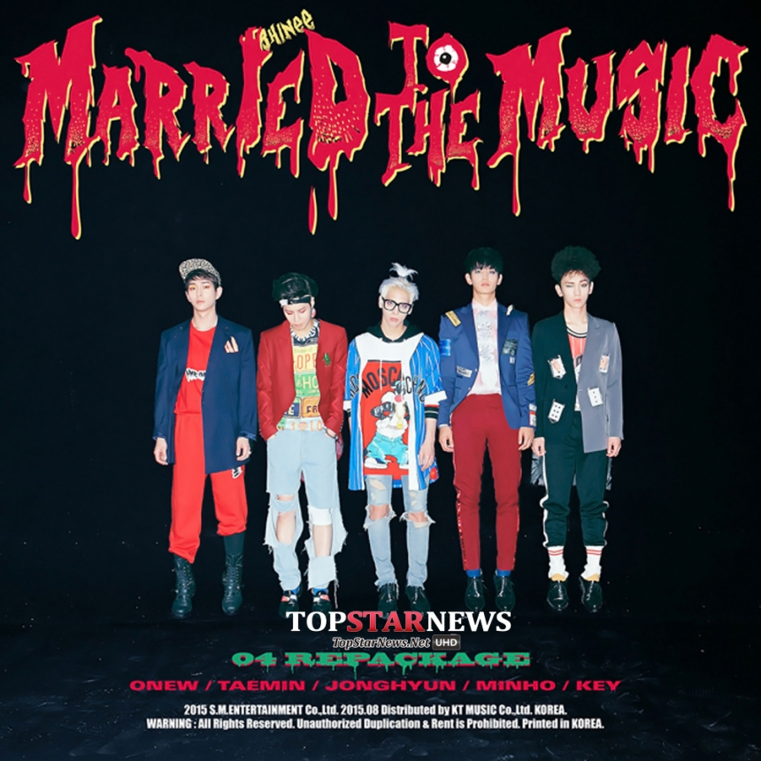 然後8月份有SHINee推出新歌加精選的《Married To The Music》