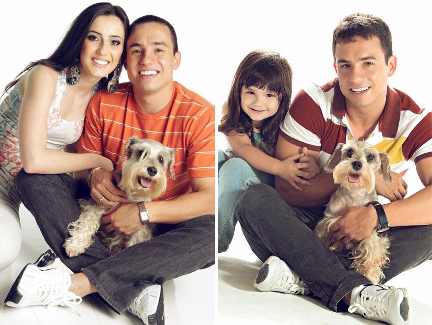 狗狗還是之前和妻子一起養的那隻,都沒有太大的變化!
