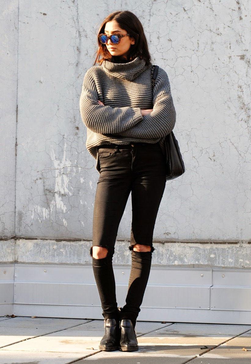 粗線毛衣的復出是早在2012年,但是自從流行起來後就再也沒有消失,所以穿一件粗線毛衣也是很時尚的。