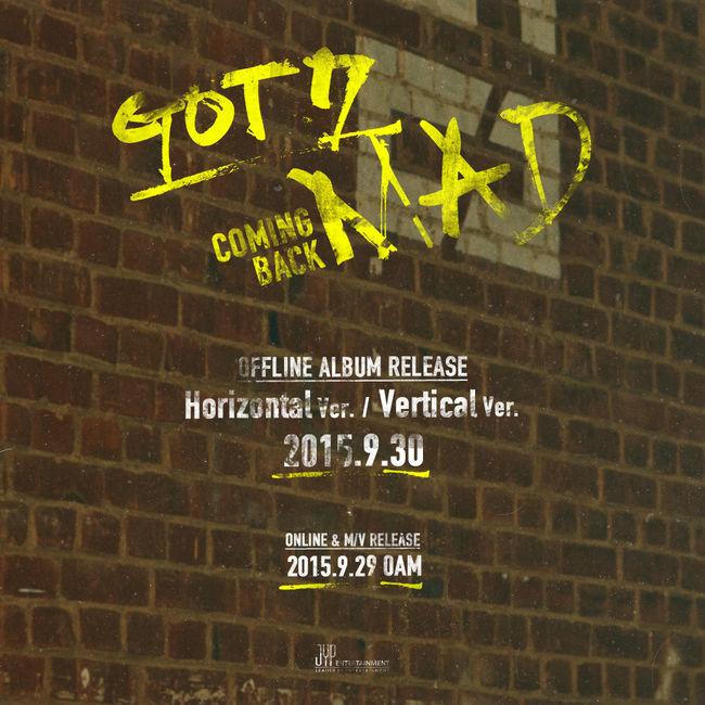 三大經紀公司急著出招,這會兒輪到JYP!新人男團GOT7也曾經跟iKON對決過(在實境秀《Who is Next:WIN》),早iKON一天(10月1日)要發新歌