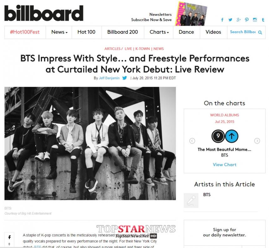 甚至美國的Billboard都報導防彈少年團的free style演出令人印象深刻呢~