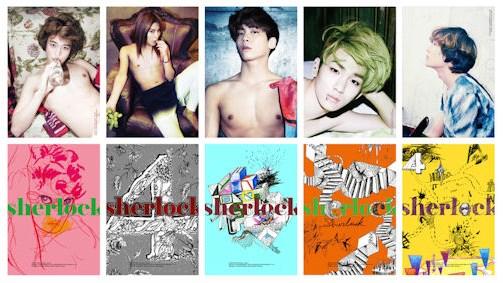 2012年SHINee推出第四張迷你專輯《Sherlock》,以5人5色為形象製作了5款封面