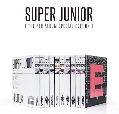 說到人數多,怎能錯過Super Junior?之前發表的正規7輯Special Edition......如果你不買就收集不到側邊這個彩虹的階梯了~