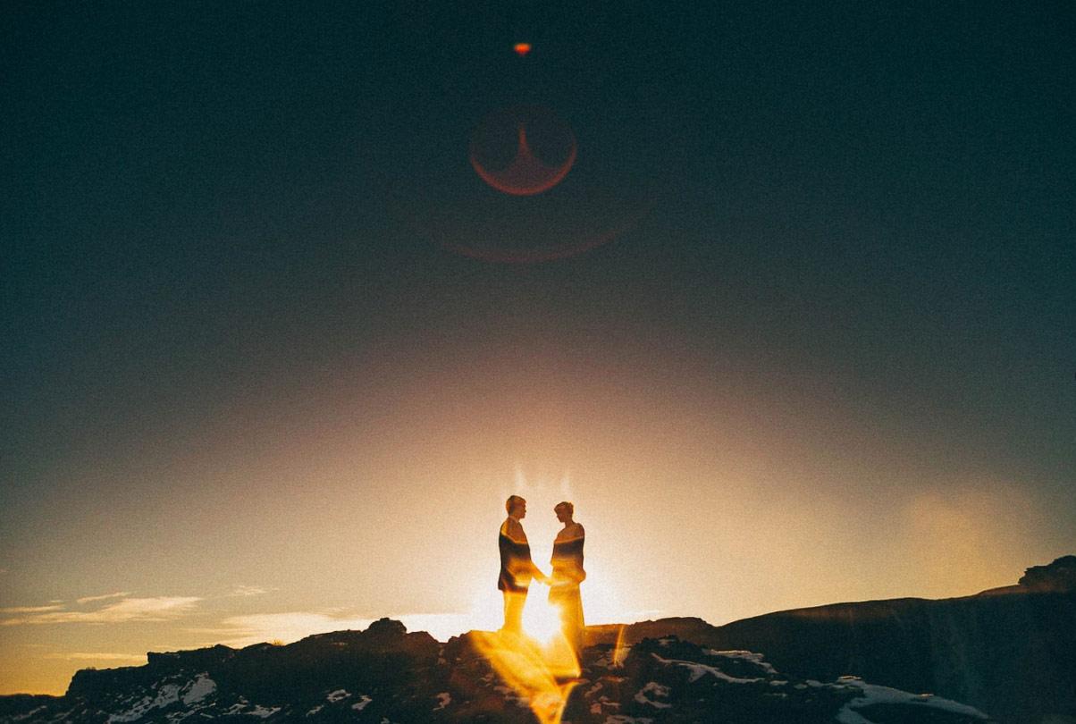 2. 辛格韋德利·冰島 by Benjamin Le Du 最北的北方,最寒的冬天,最暖的夕陽,最溫柔的你。