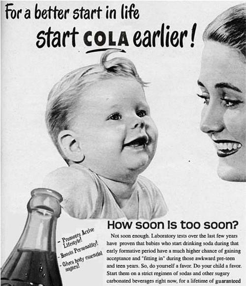 <飲料廣告> 為了更美好生活的開始,從小就要喝可樂。
