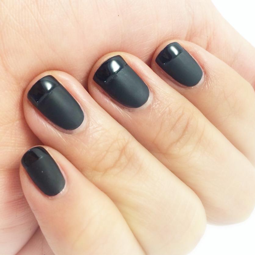 就算平常不愛塗黑色指甲油的人 也一定會滿意的低調帥氣風