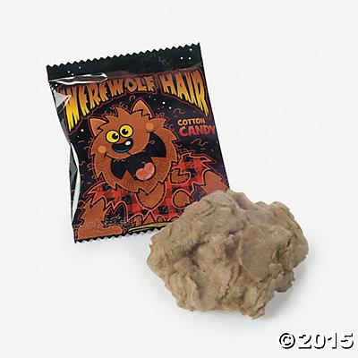 對比蟲蟲糖接下來介紹的這款「狼人棉花糖」就溫和許多 強調有狼人毛髮觸感的棉花糖 想必是相當符合接下來萬聖節氣氛的糖果