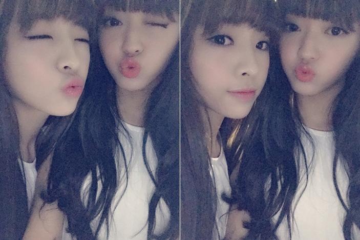 Jin E+Yoo A的組合等於愛情。 拜託你們常常自拍好不好◕ฺω◕ฺ
