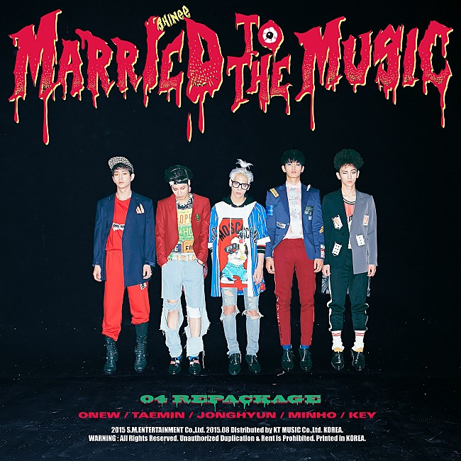 TOP 17: SHINee《Married To The Music》 第四張正規改版專輯《Married To The Music》(2015/08)