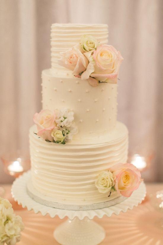 正式成為夫妻後一起做的第一件事情就是 新郎新娘在婚禮上切蛋糕!